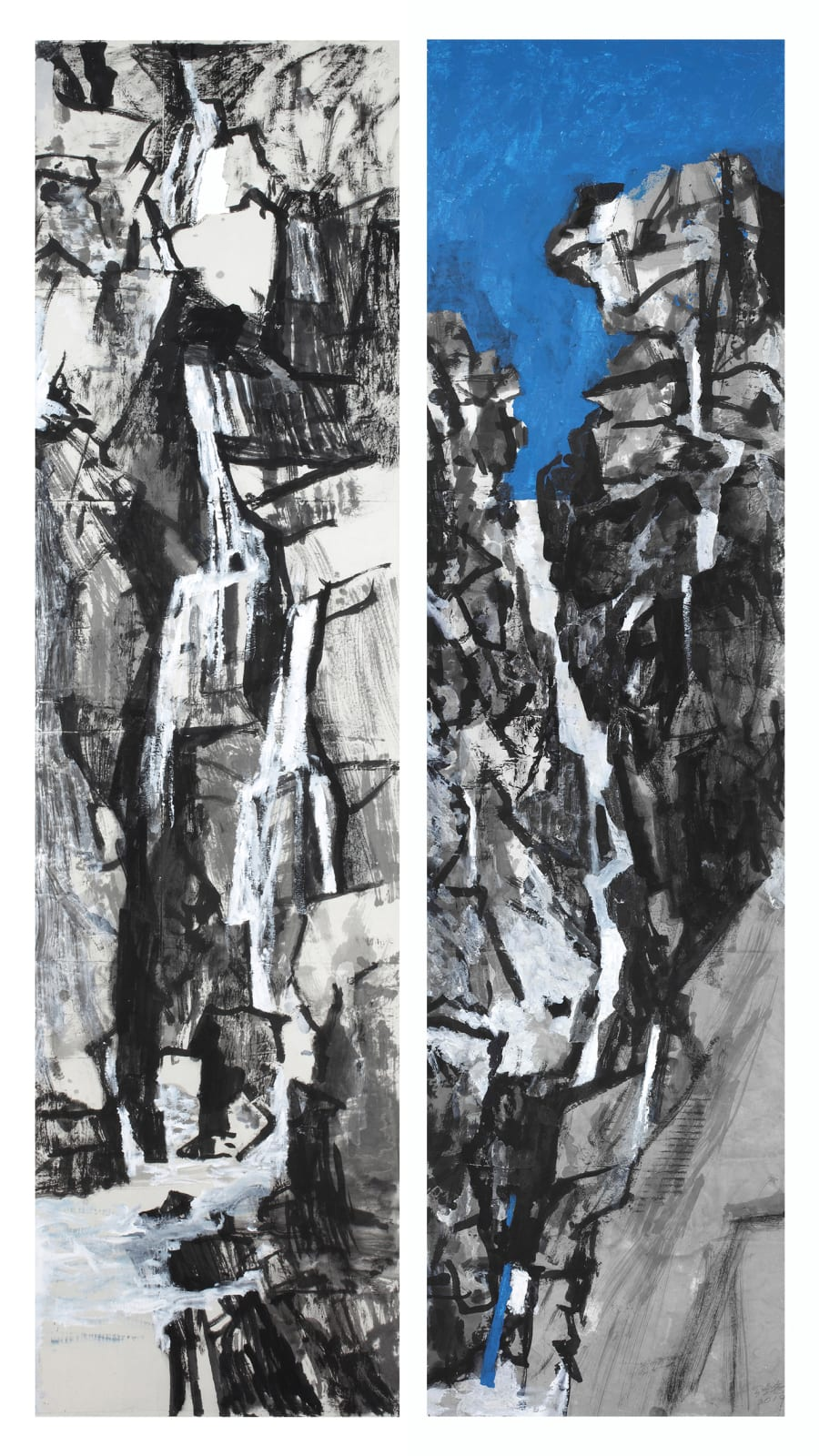 Wang Gongyi 王公懿, 'Landscape - Water, Rocks' and 'Landscape - Sky, Water', 2018