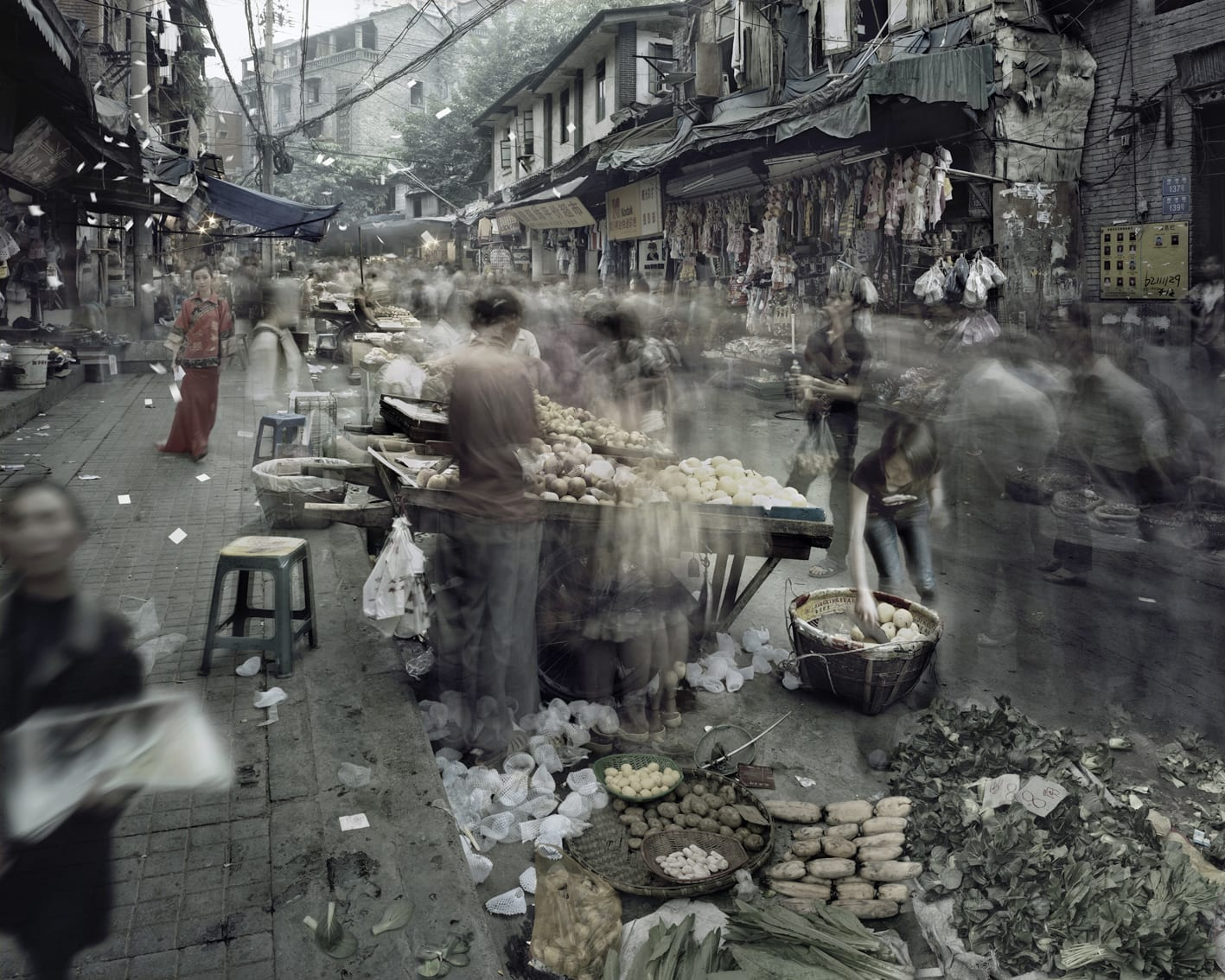 Qin Wen 秦文, Old City - Jiaohuazi Street 故城系列之叫花子街, 2011