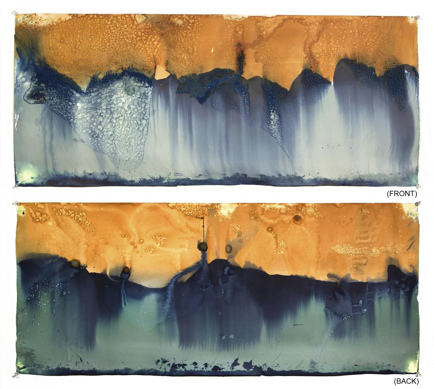 Meghann Riepenhoff 梅根·瑞普霍夫, Littoral Drift 05 (RectoVerso, Rode Beach, CA 08.01.13, Two Waves, Dipped), 2013