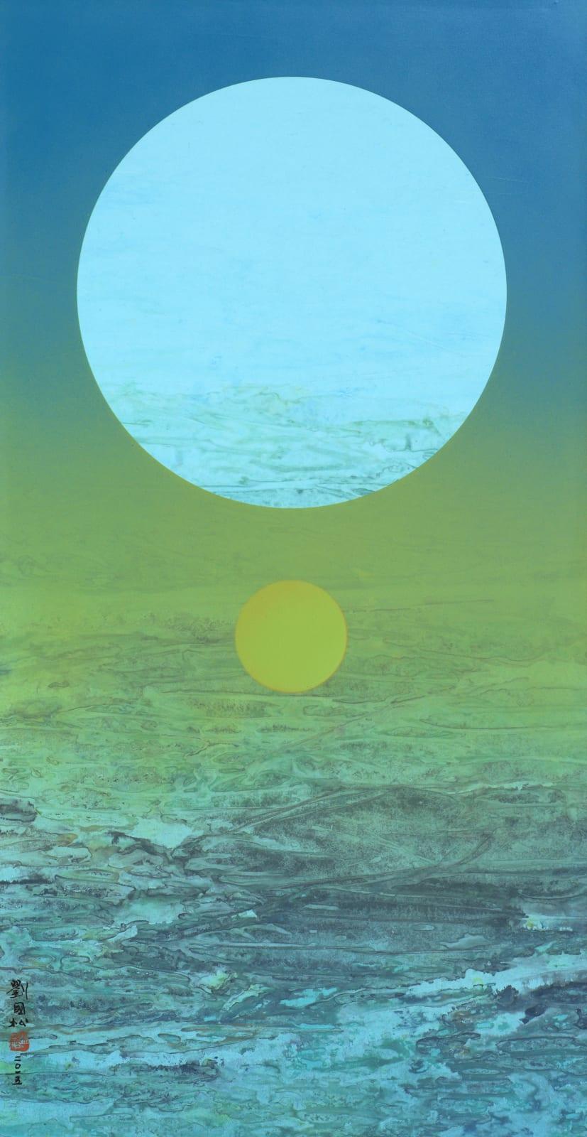 Liu Kuo-Sung 劉國松, Moon's Metamorphosis 229 月之蛻變 229, 2015