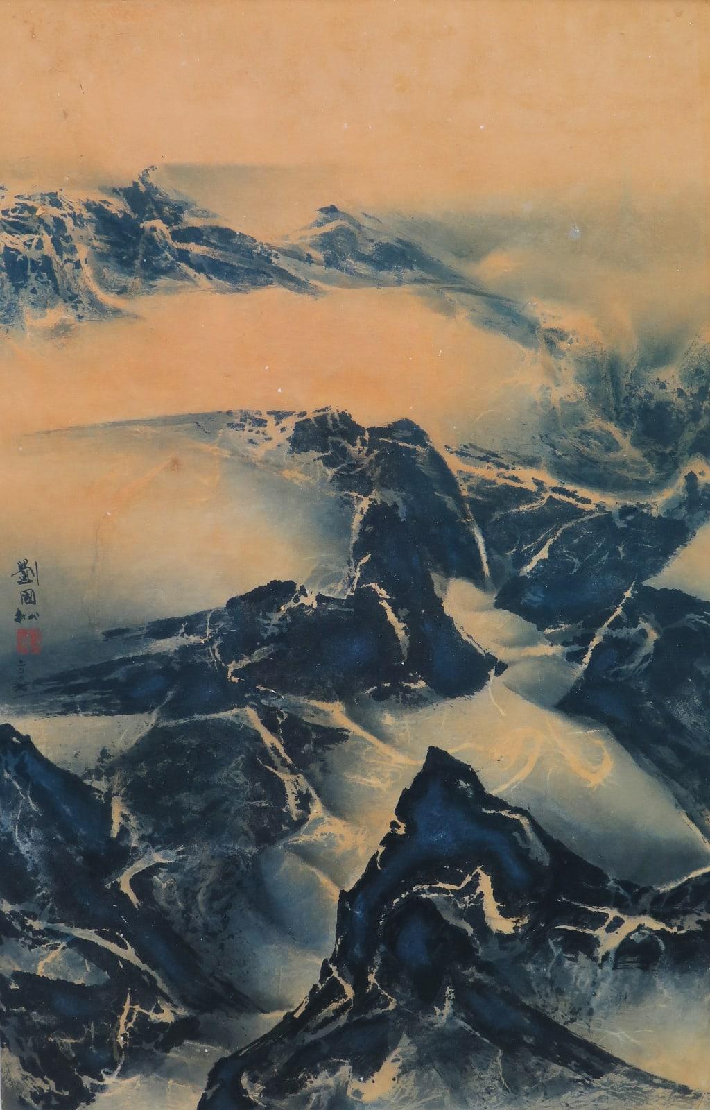 Liu Kuo-Sung 劉國松, Dawn 拂曉, 2007