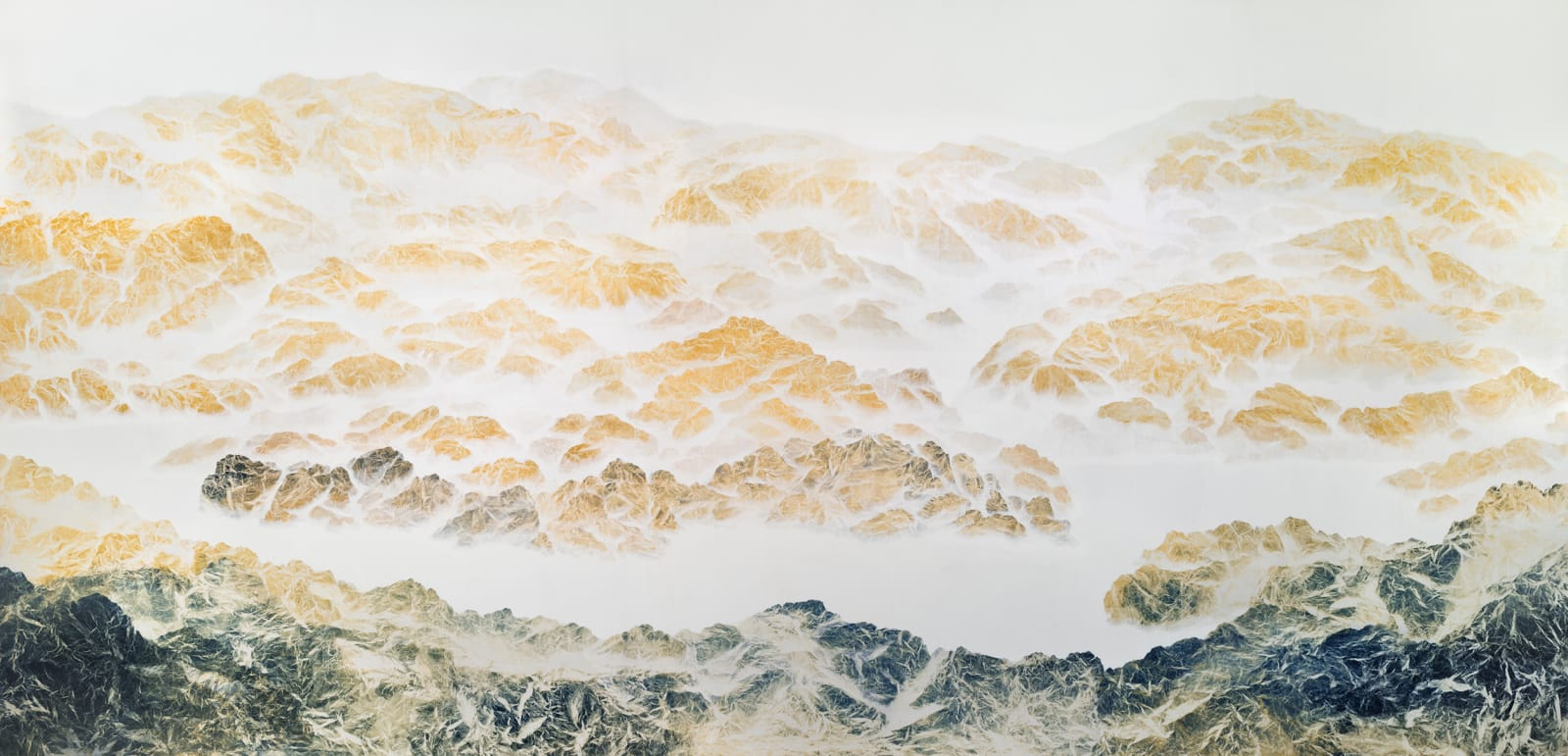 Wu Chi-Tsung 吳季璁, Cyano-Collage - A Thousand Mile of Rivers and Mountains 氰山集之千里江山圖, 2018