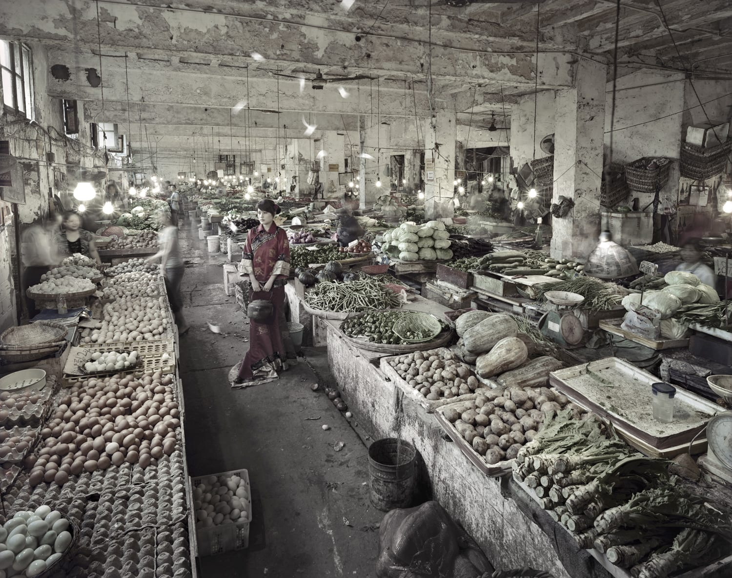 Qin Wen 秦文, Old City - Vegetable Market (No. 2) 故城系列之菜市場, 2009