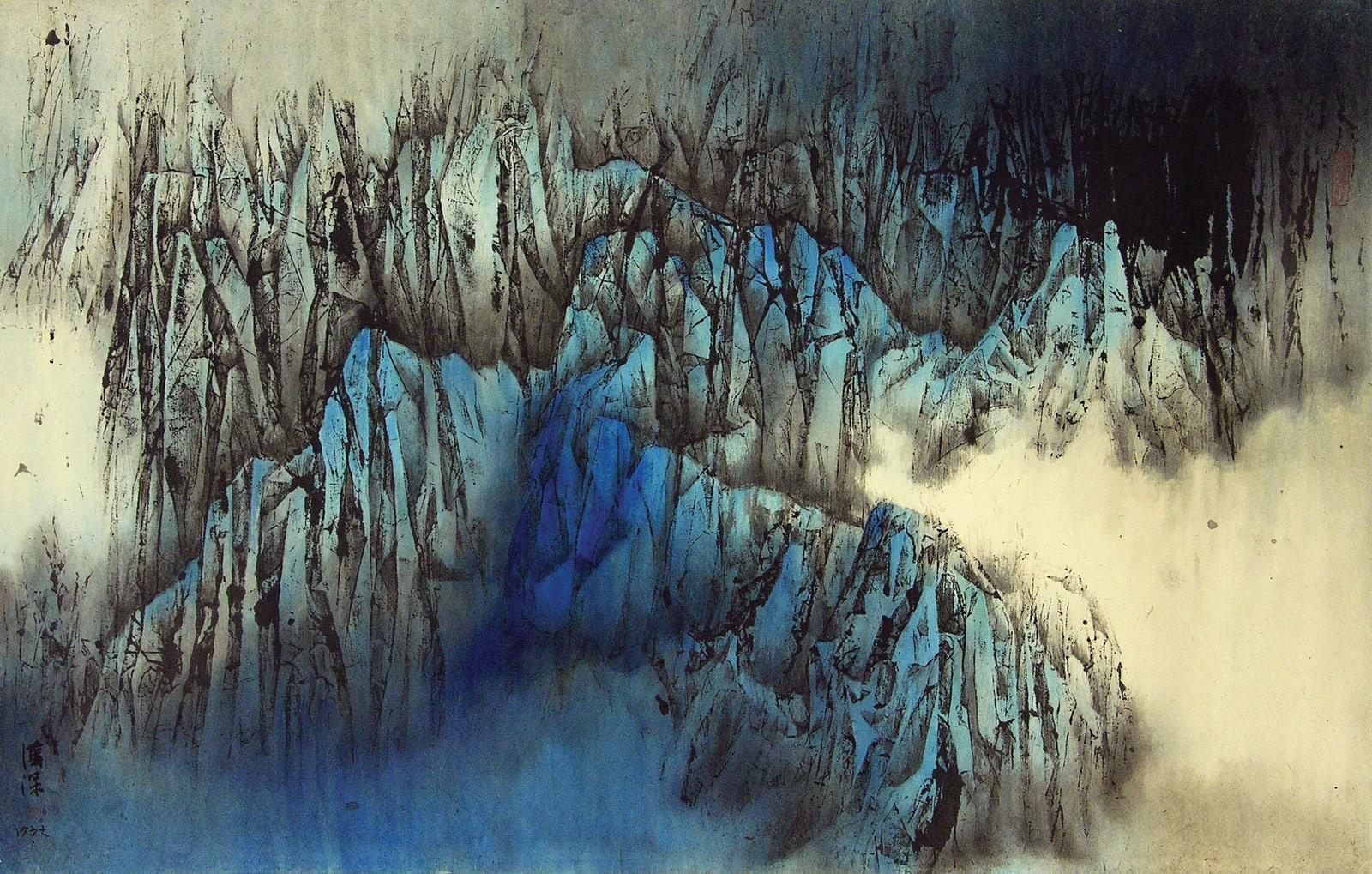 Kwok Hon Sum 郭漢深, The Majestic Cliff 擎崖傲然 , 1977