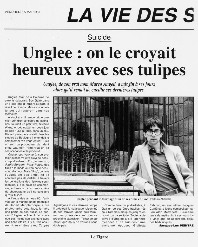 Unglee, On le croyait heureux avec ses tulipes, Paris 1993, 12 mai 1995