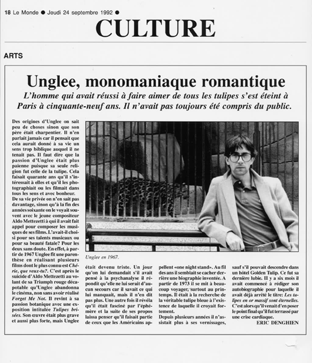 Unglee, Unglee, monomaniaque romantique, 1993-1995