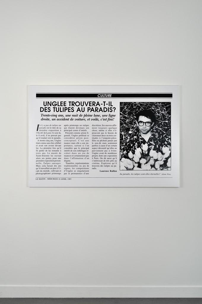 Unglee, Unglee trouvera-t-il des tulipes au paradis ? Paris 1993, 1995