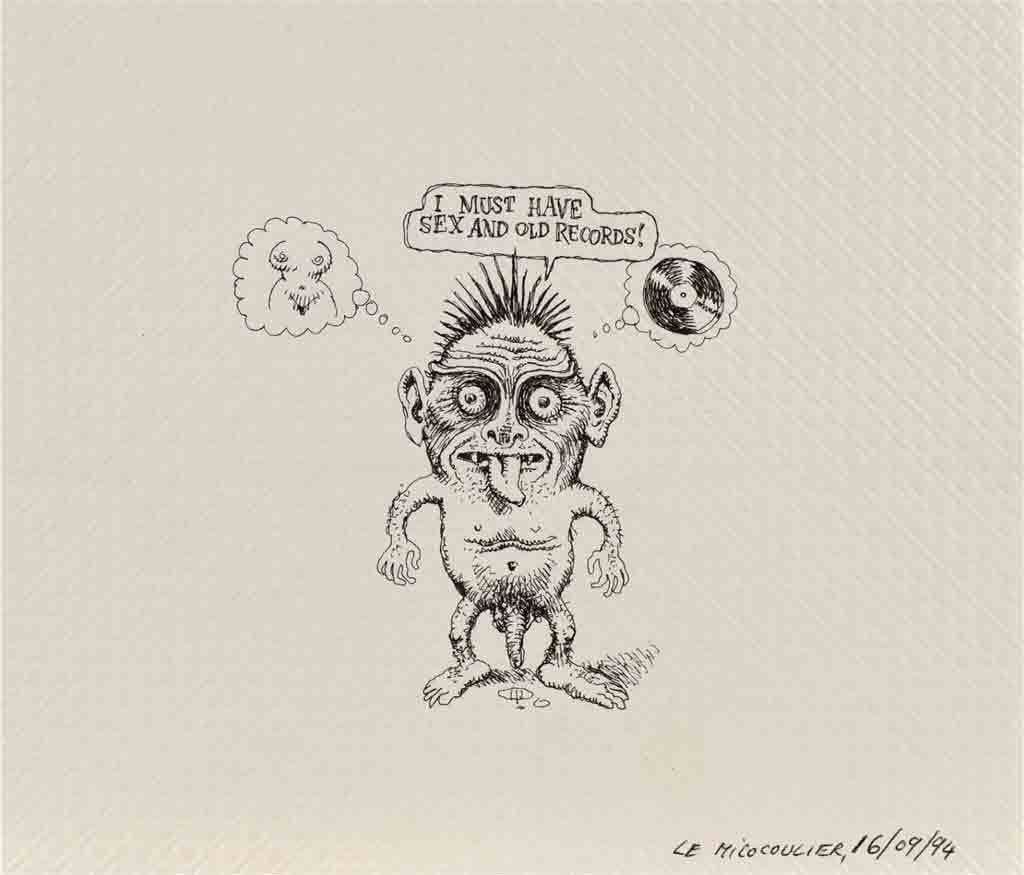 Robert Crumb, 'I must have sex and old records', 1994