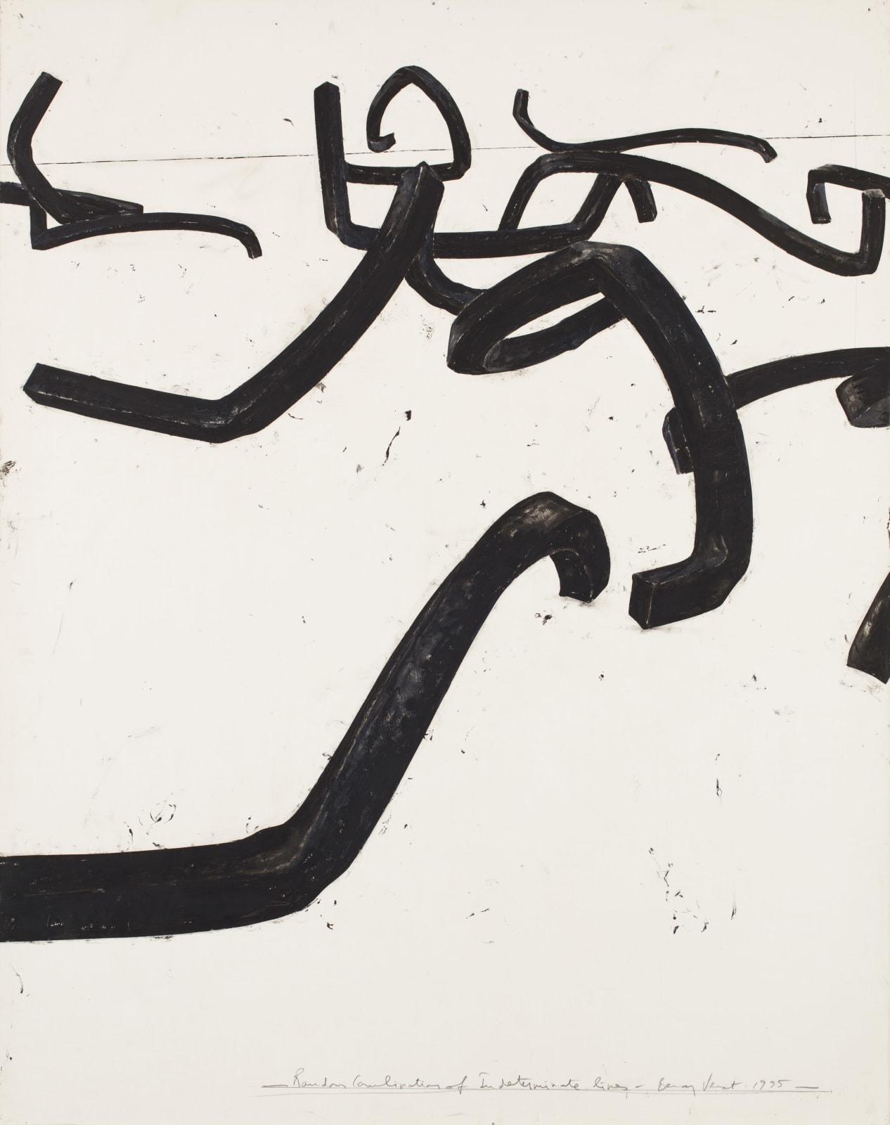 Bernar Venet, Random Combination of indeterminate lines, 1995