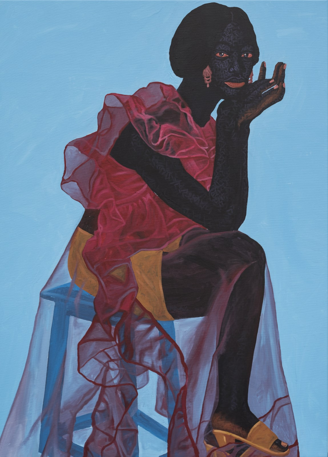 Kwesi Botchway, Blue Stool Gaze, 2020