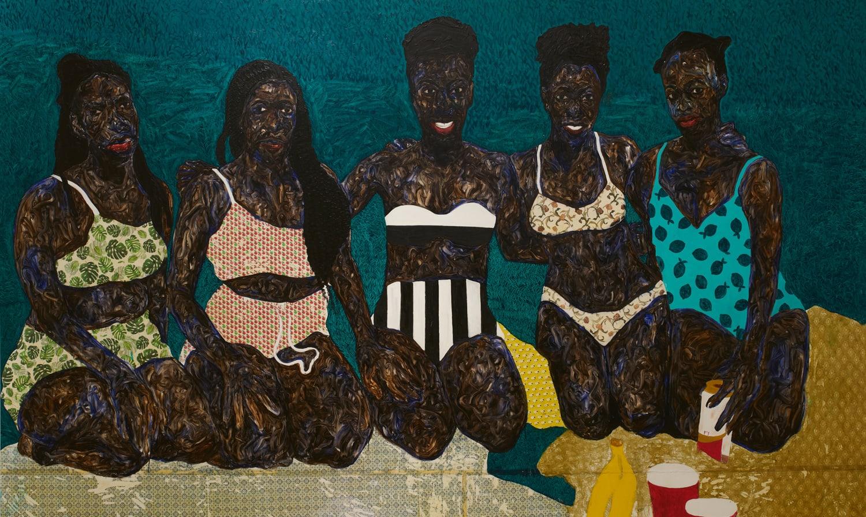 Amoako Boafo, Sunbathers , 2021