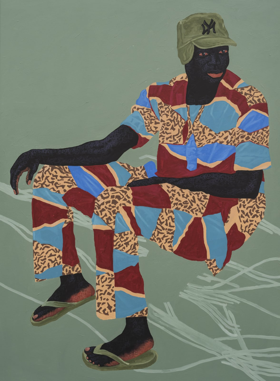 Kwesi Botchway, Green Earflip cap, 2020