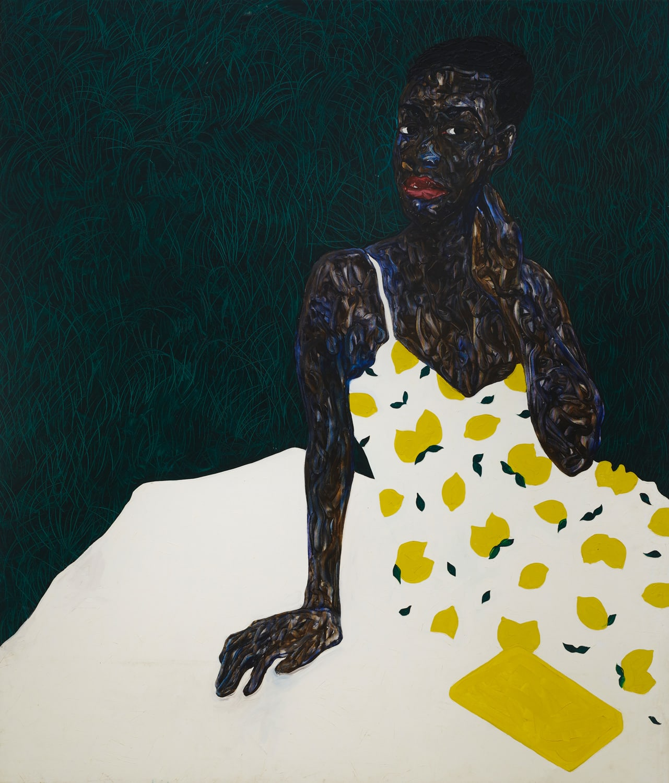 Amoako Boafo, White Blanket, 2021