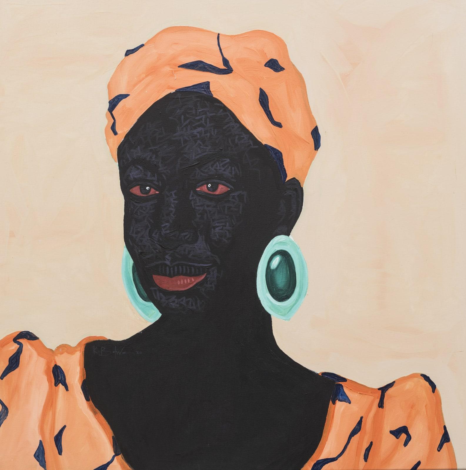 Kwesi Botchway, Green Stone Earrings, 2020