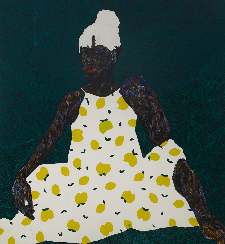 Amoako Boafo, Lemon Sundress, 2020