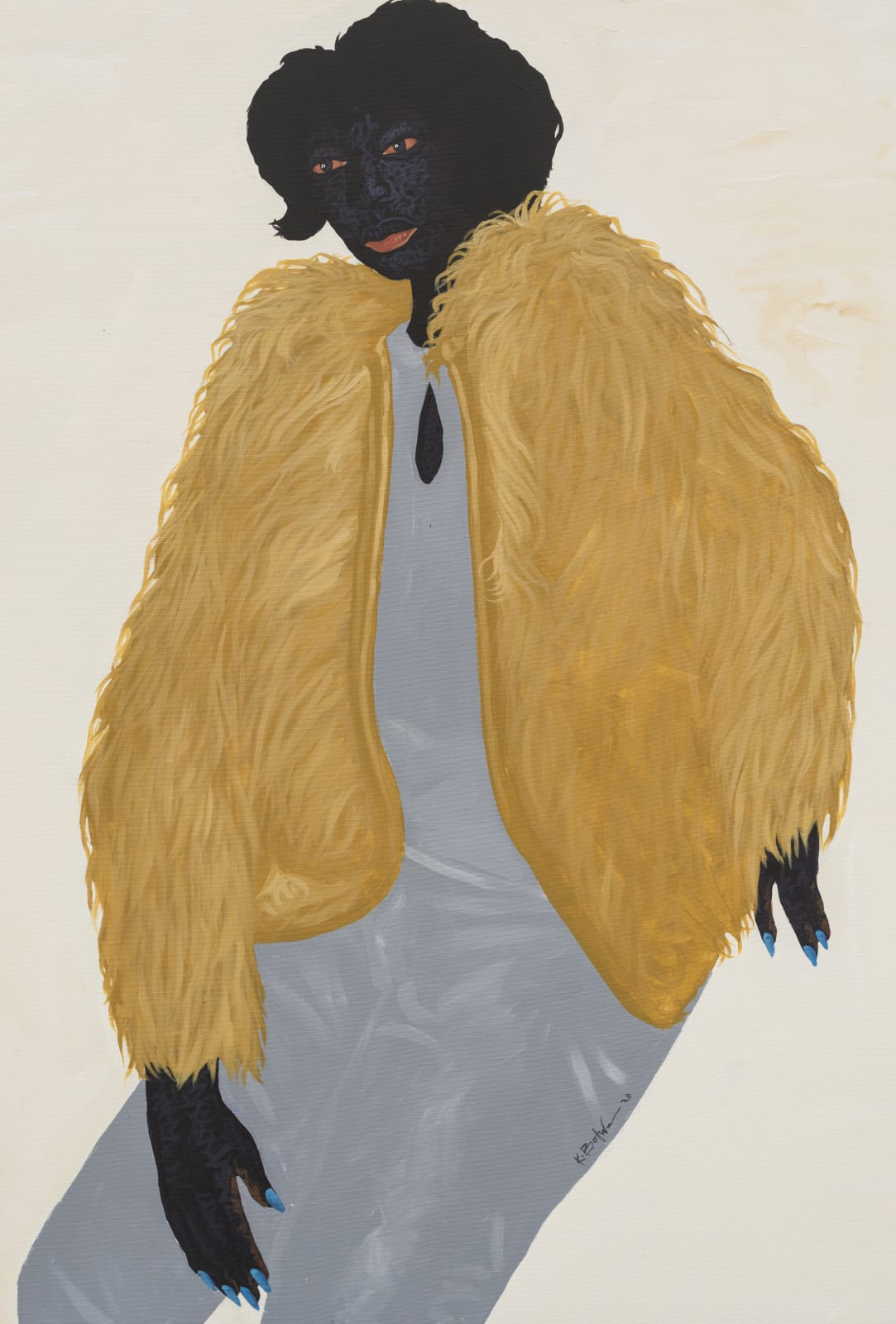 Kwesi Botchway, Ocre fluffy Jacket, 2020