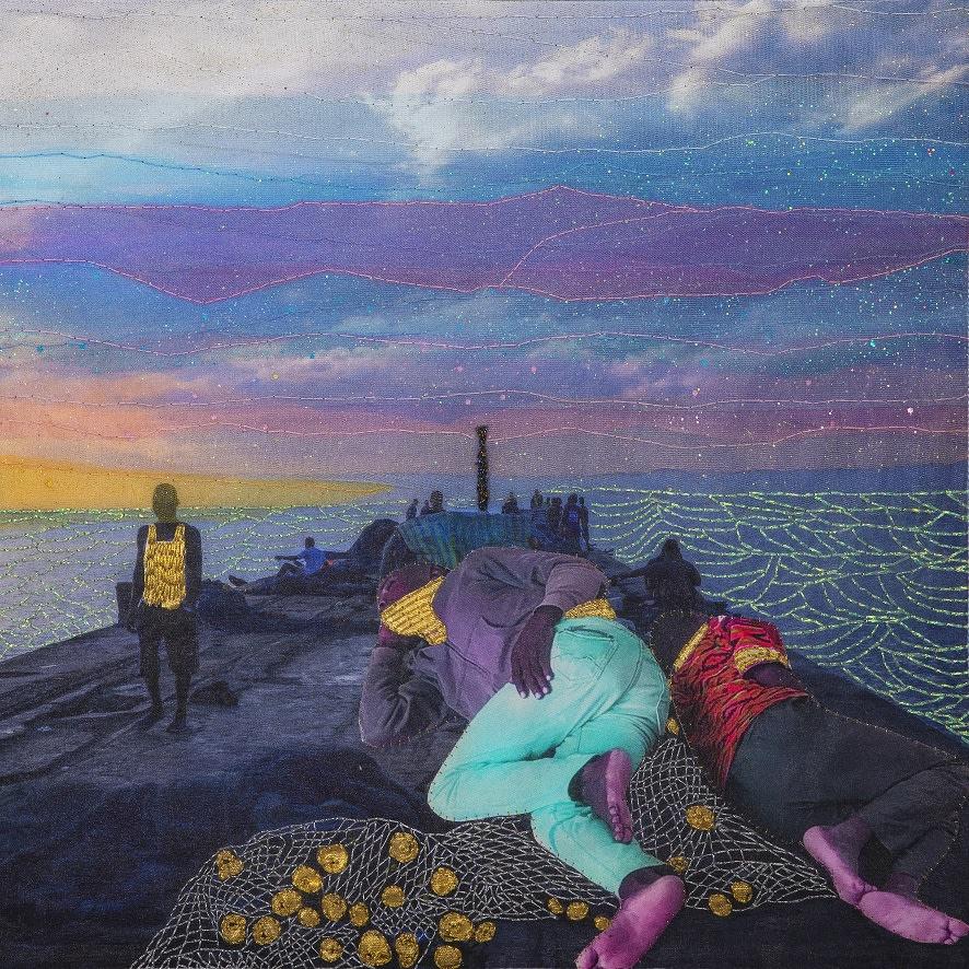 Joana Choumali, SILENT MORNING, Series Alba'hian, 2020