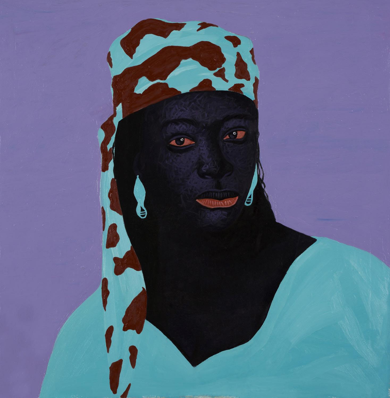 Kwesi Botchway, Burgandy Scarf, 2020