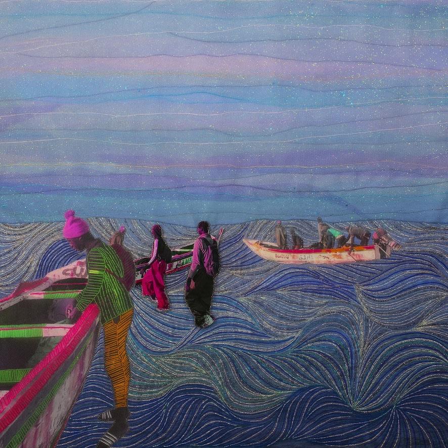 Joana Choumali, Waves under my eyelids, Series Albahian, 2019