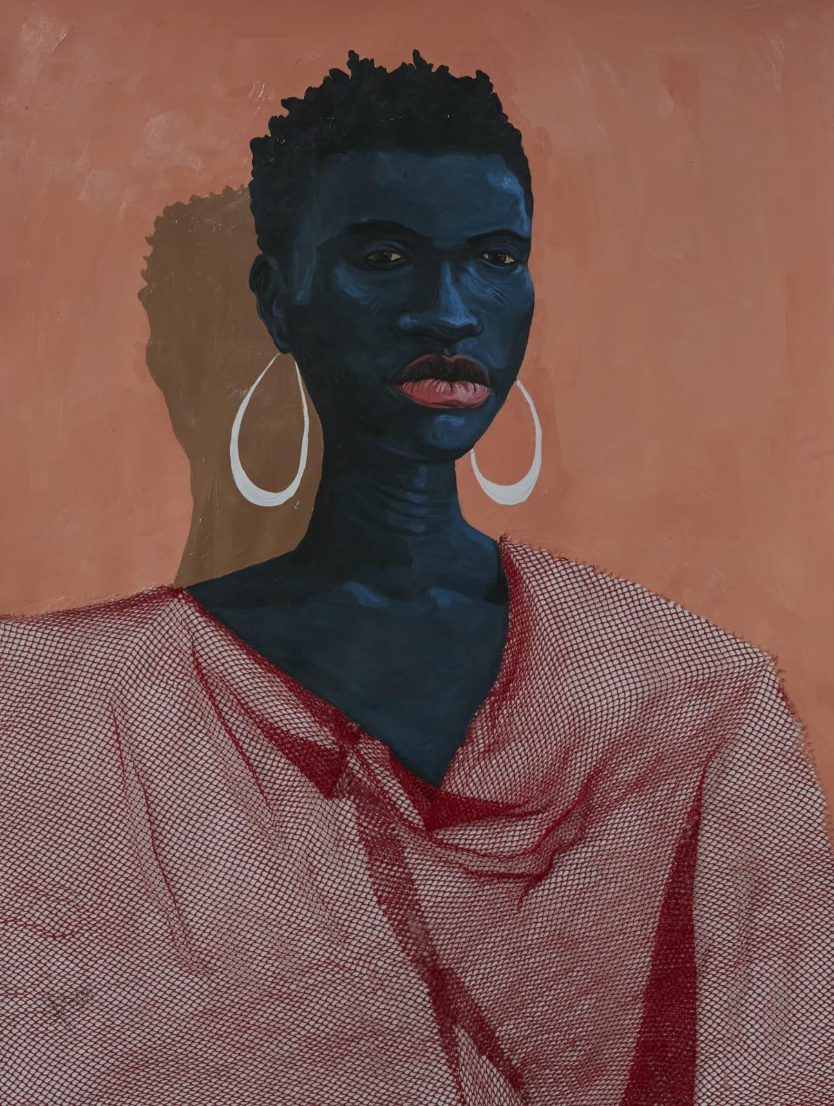 Adjei Tawiah, Red on black, 2021