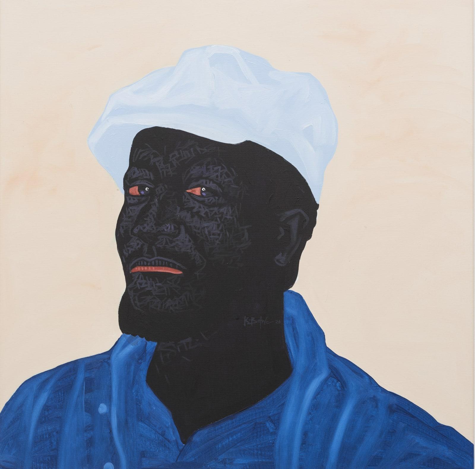 Kwesi Botchway, Baby Blue Hat, 2020