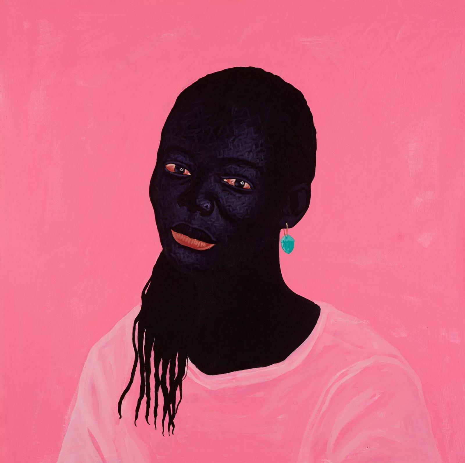 Kwesi Botchway, Turquoise Earring, 2020