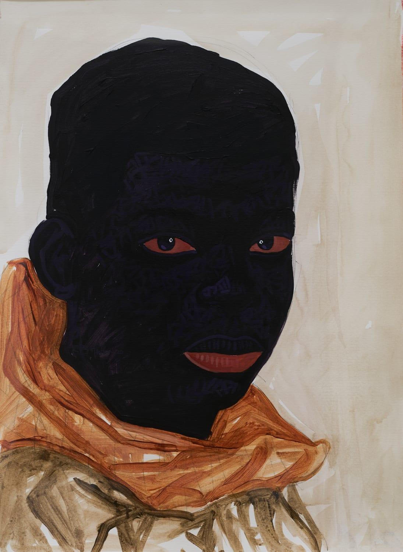 Kwesi Botchway, Boy with Orange Scarf, 2020