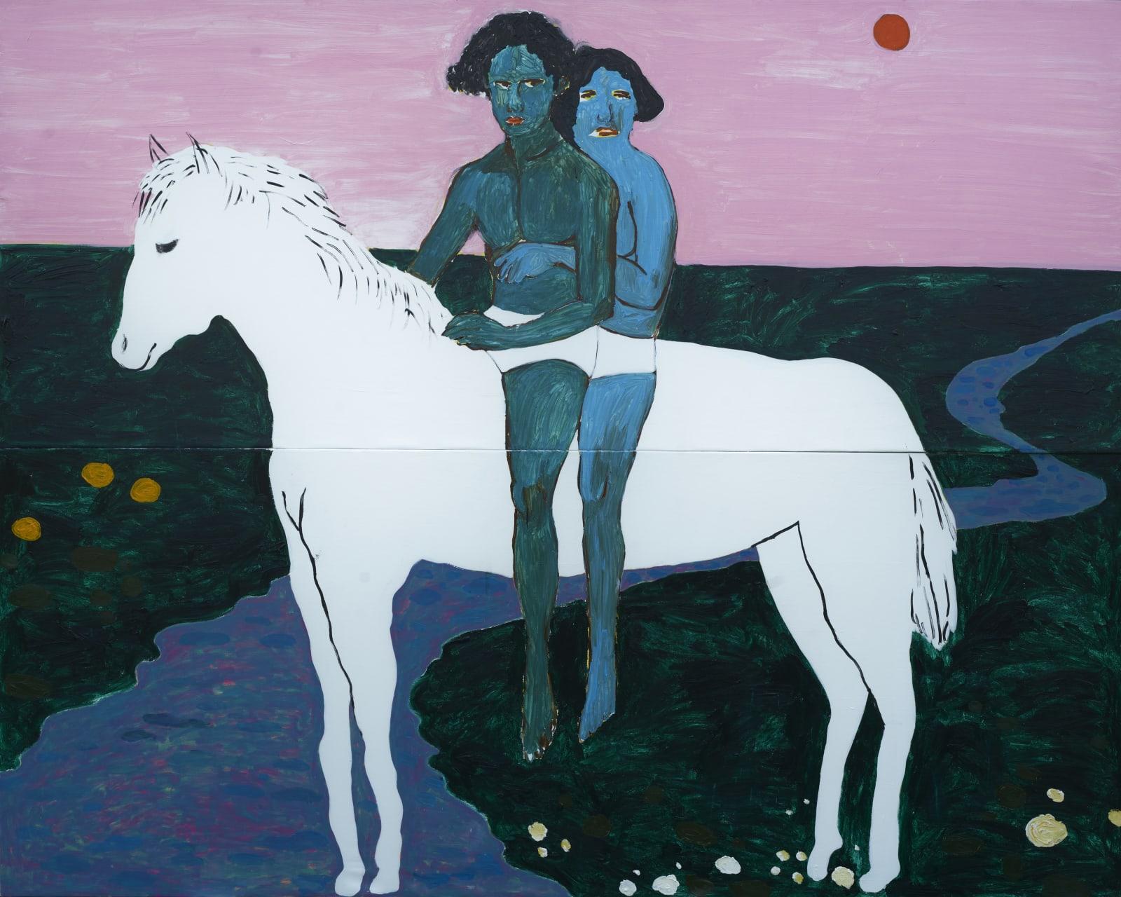 Gideon Appah, Strangers on a white horse, 2020