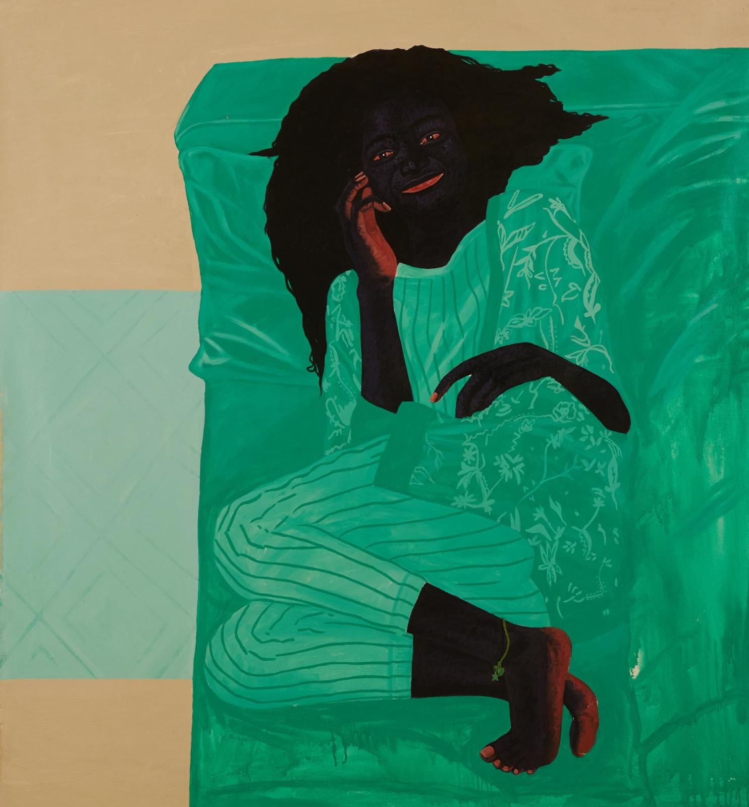 Kwesi Botchway, Green Sofa, 2020
