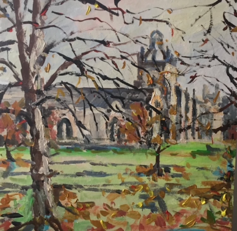 Kathleen Bremner, Autumn Leaves at King's College