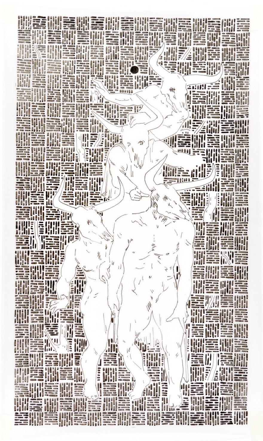 Rowan Dahl, Zombie Minotaurs 1 (set of 4)
