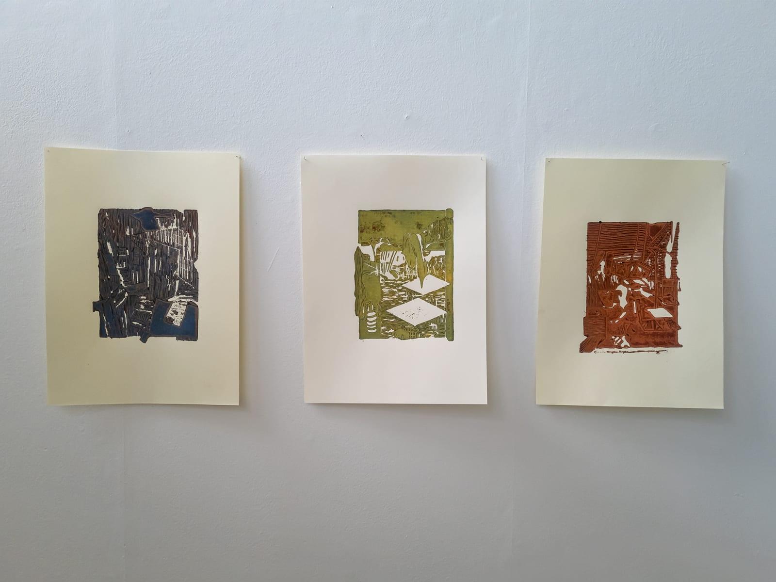 Lindsay Burns, Series of Lino Prints (set of 3)