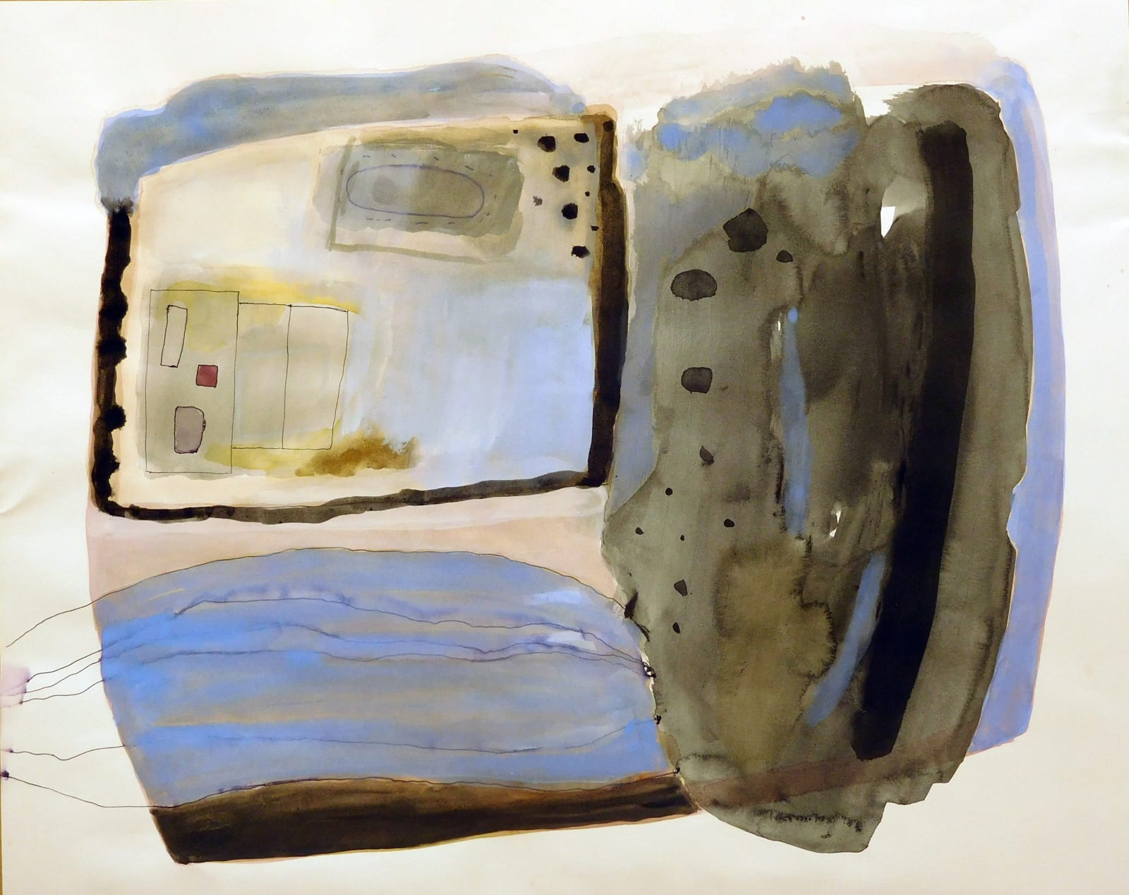 Ann Wegmuller RSW RGI, Settlement Amongst the Rocks I