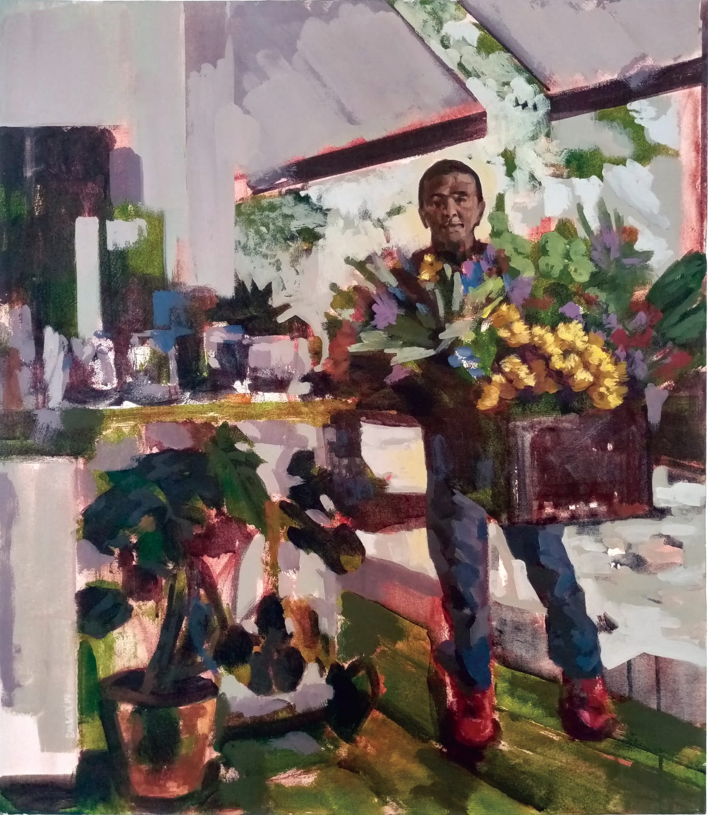 Raél Jero Salley, Flower Sale, 2019