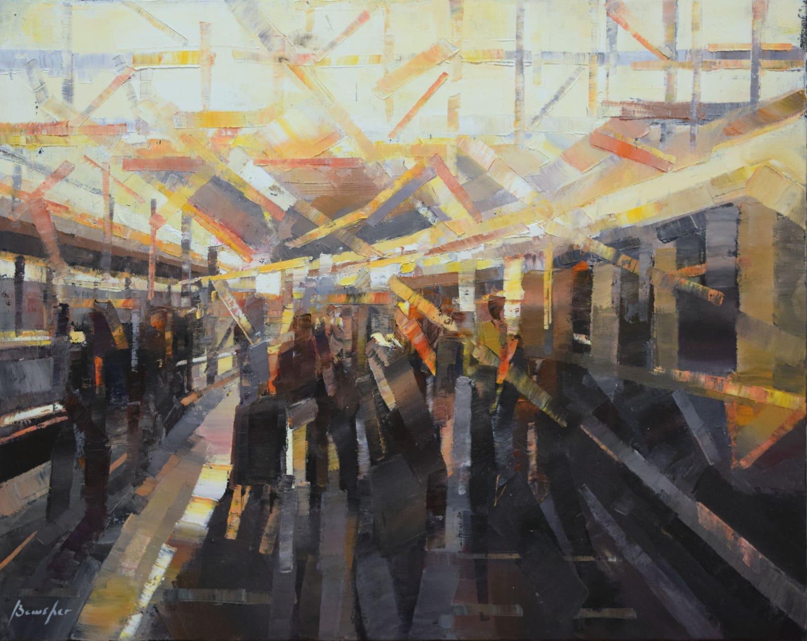 Steve Bewsher, Passengers Boarding a Train, 2018