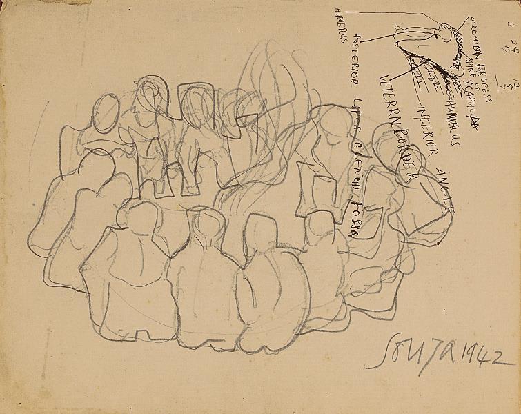 Francis Newton Souza, Untitled (Study), 1942