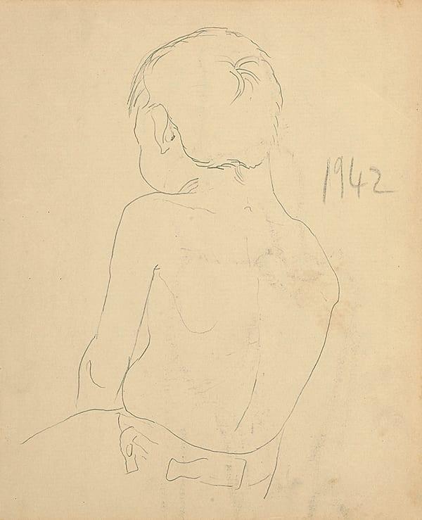Francis Newton Souza, Untitled (Back of Boy), 1942