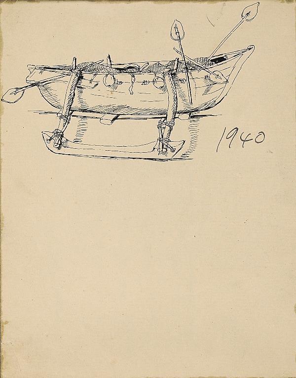 Francis Newton Souza, Untitled (Fishing boat), 1940