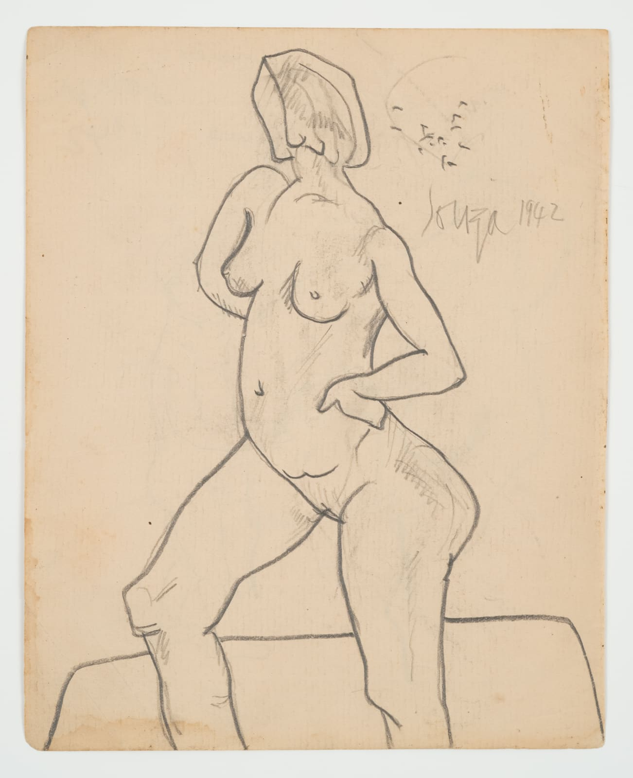 Francis Newton Souza, Untitled - (Figure Study), 1942
