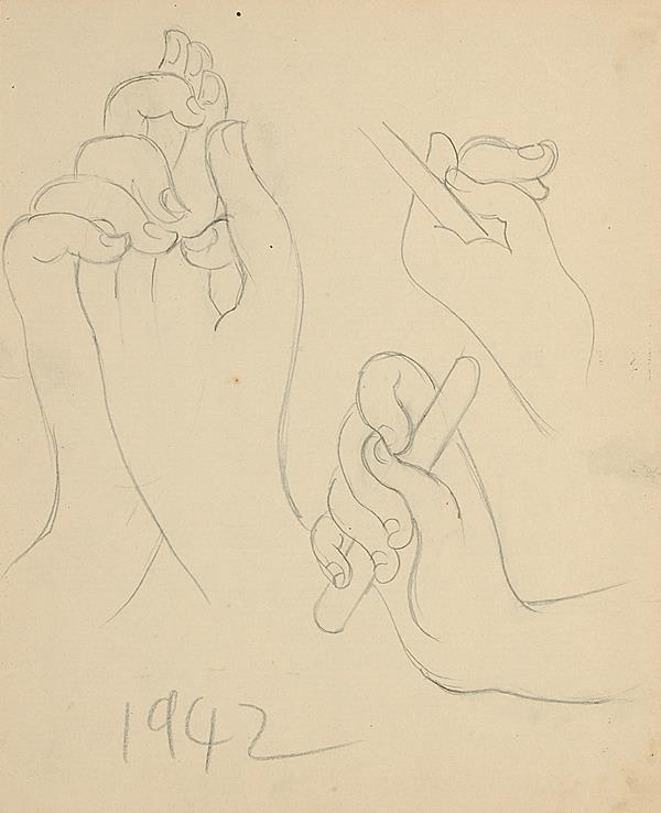 Francis Newton Souza, Untitled (Hands) , 1942