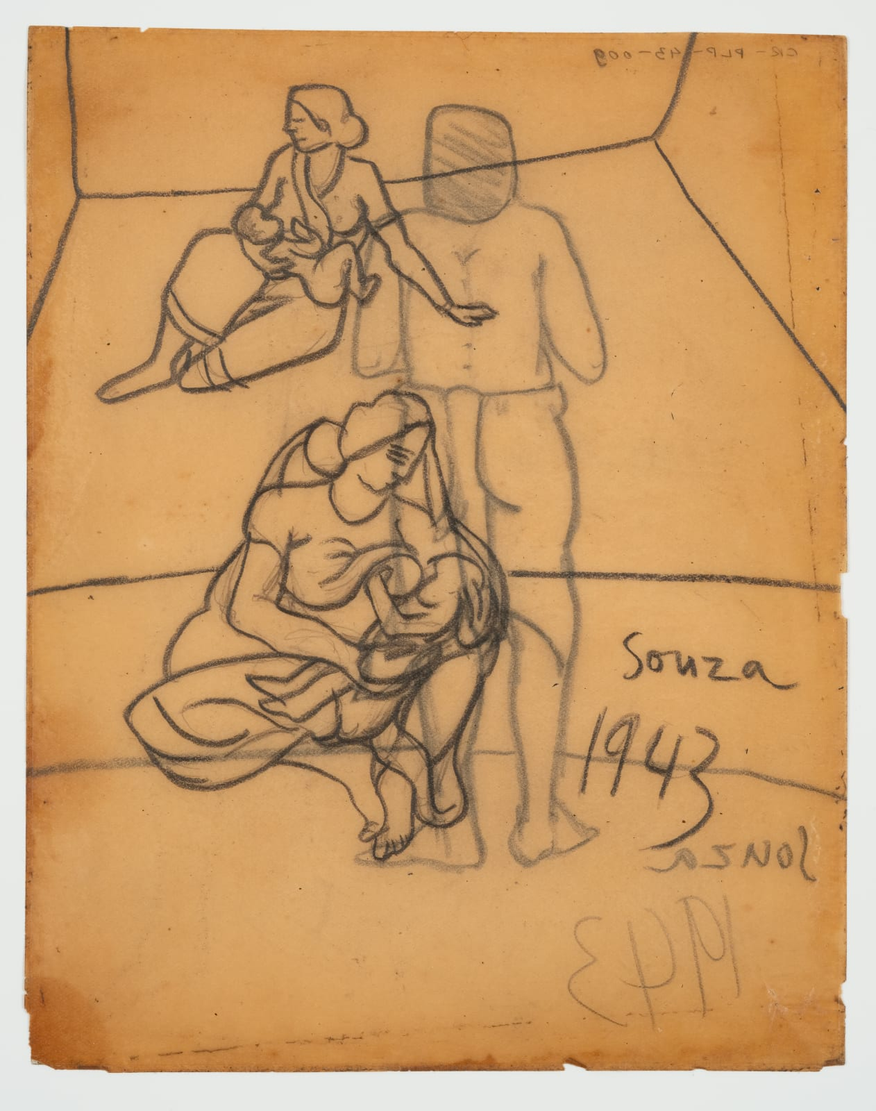 Francis Newton Souza, Untitled recto ; Untitled verso, 1943