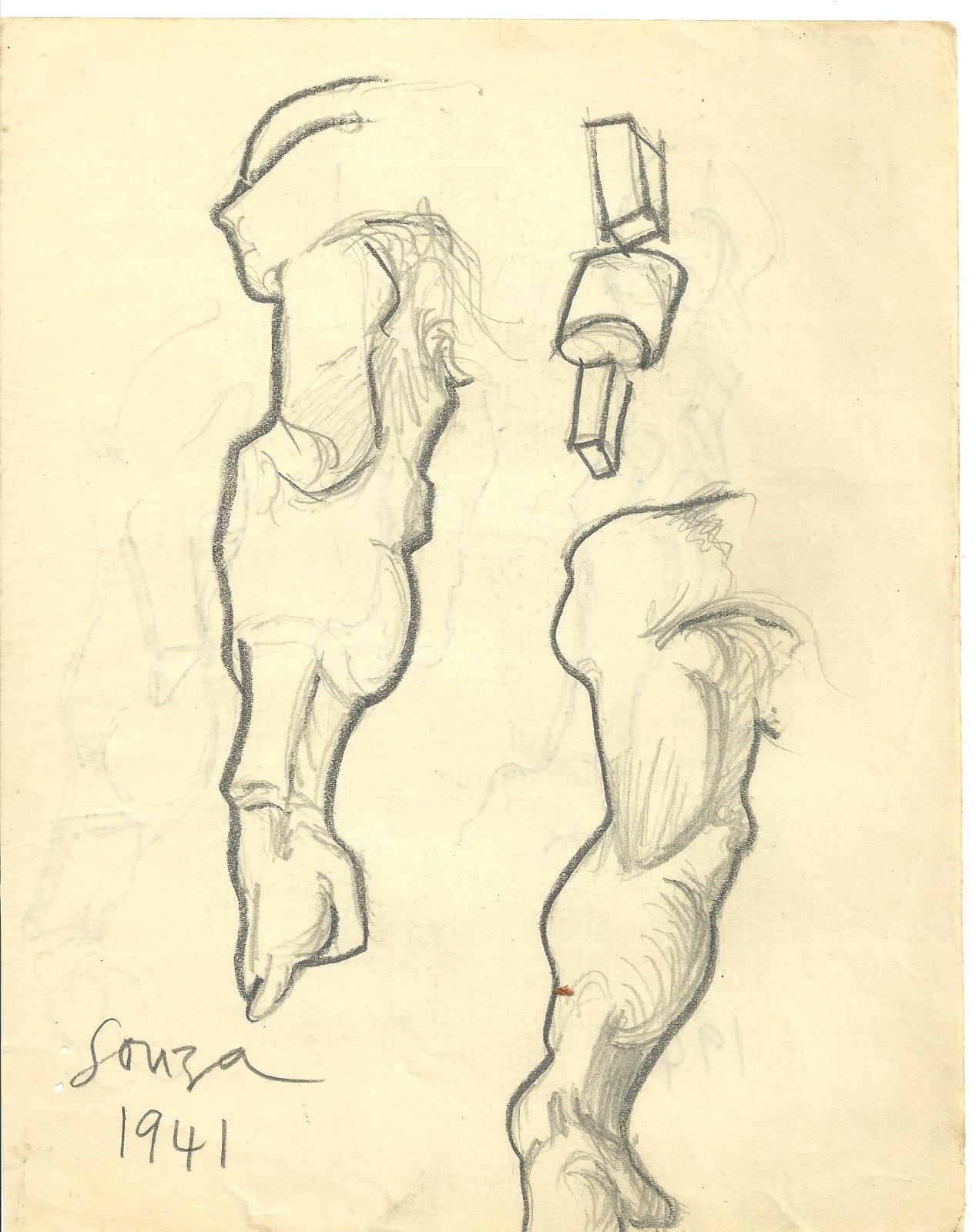 Francis Newton Souza, Untitled (Study), 1941