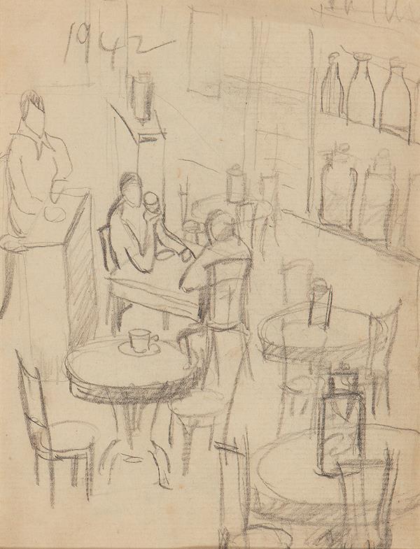 Francis Newton Souza, Untitled (Cafe), 1942