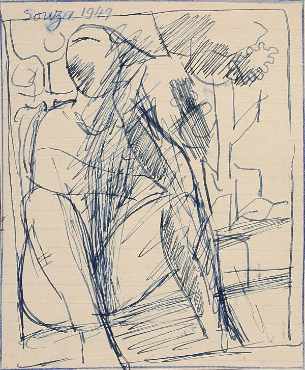 Francis Newton Souza, Untitled, 1949