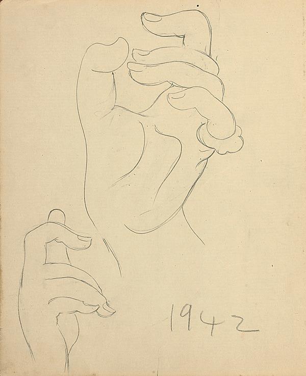 Francis Newton Souza, Untitled (Hands), 1942
