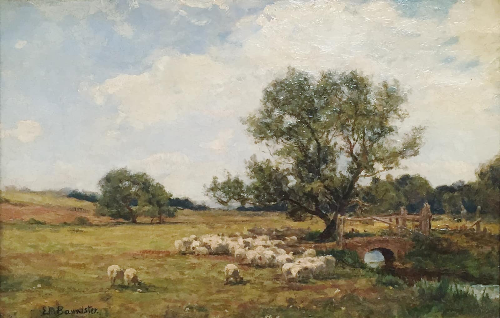 Edward Mitchell Bannister, Untitled (Sheep in a Field), 1883