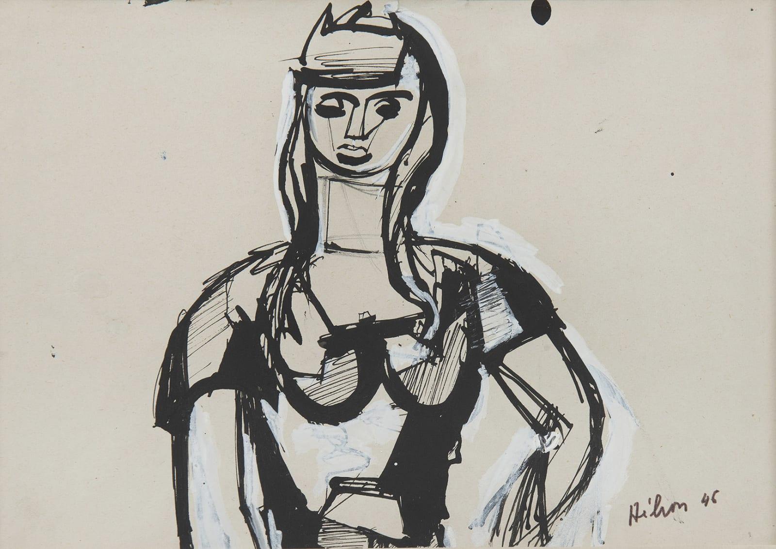 JEAN HÉLION, Portrait de femme, 1946