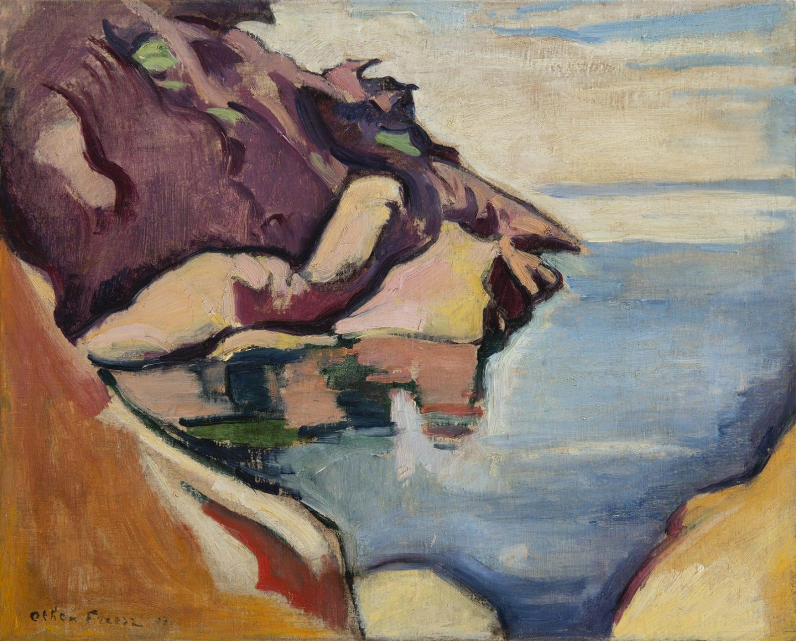 EMILE OTHON FRIESZ, La Baie du Bec de l'aigle, La Ciotat, 1907