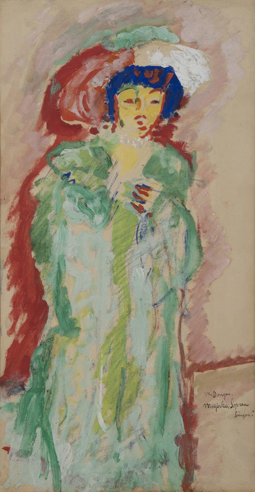 KEES VAN DONGEN, Modjesko soprano singer, 1907