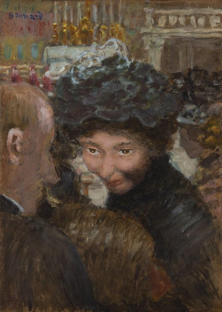 PIERRE BONNARD, Rue à Paris, circa 1894-1895
